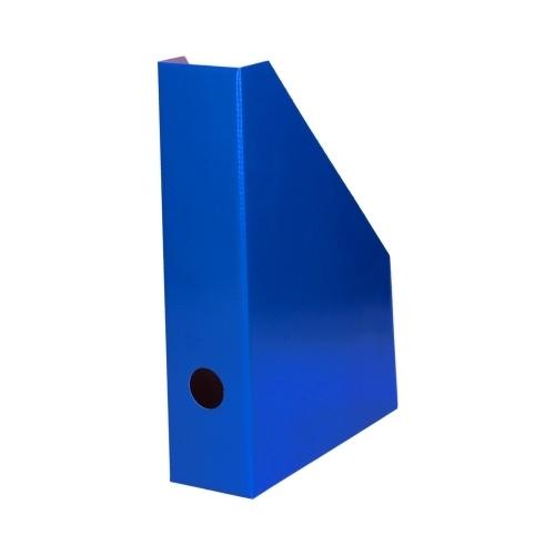 Pojemnik na czasopisma A4 7cm niebieski lakierowany Bantex