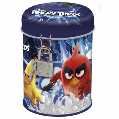 Skarbonka metalowa z kłódką Angry Birds 13