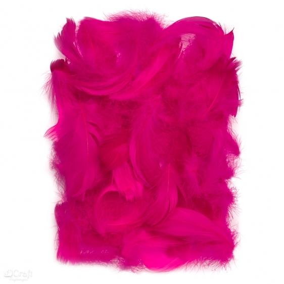 Piórka 5-12cm 10g ciemny róż