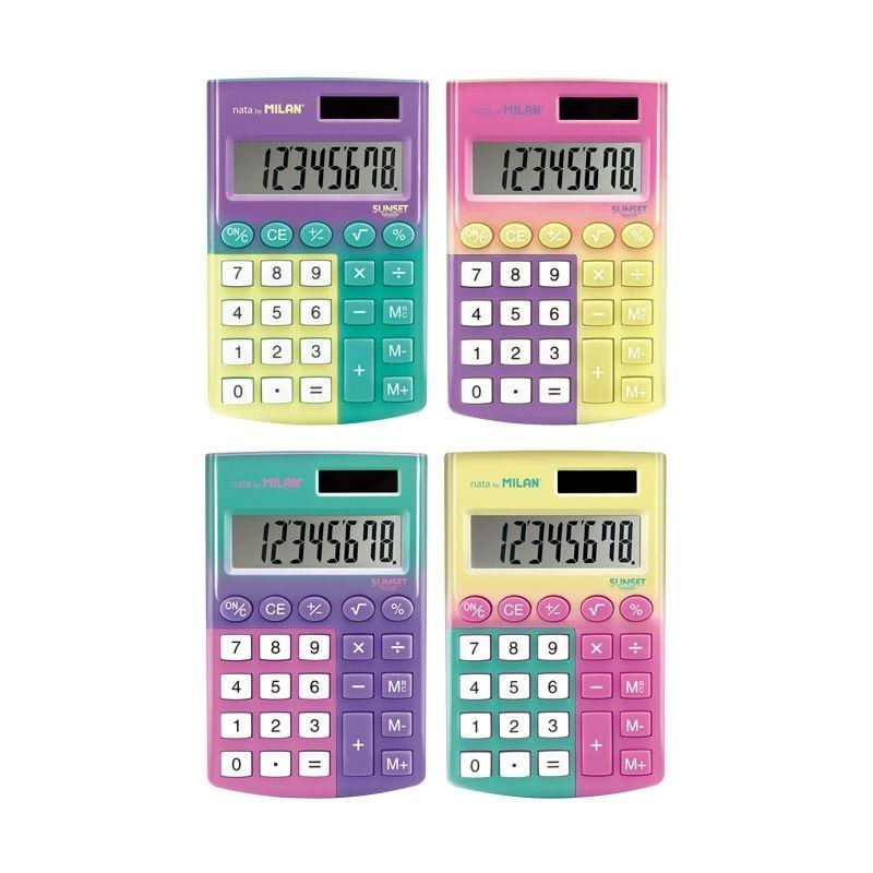 Kalkulator 8 pozycyjny satynowy Sunset Milan