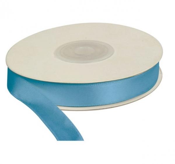 Wstążka satynowa dekoracyjna błękitna 12mm/25m