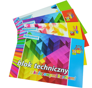 Blok techniczny kolorowy A4 10 kartek