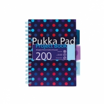 Kołozeszyt z przekładkami A5/200 kratka Pukka Pad Dots