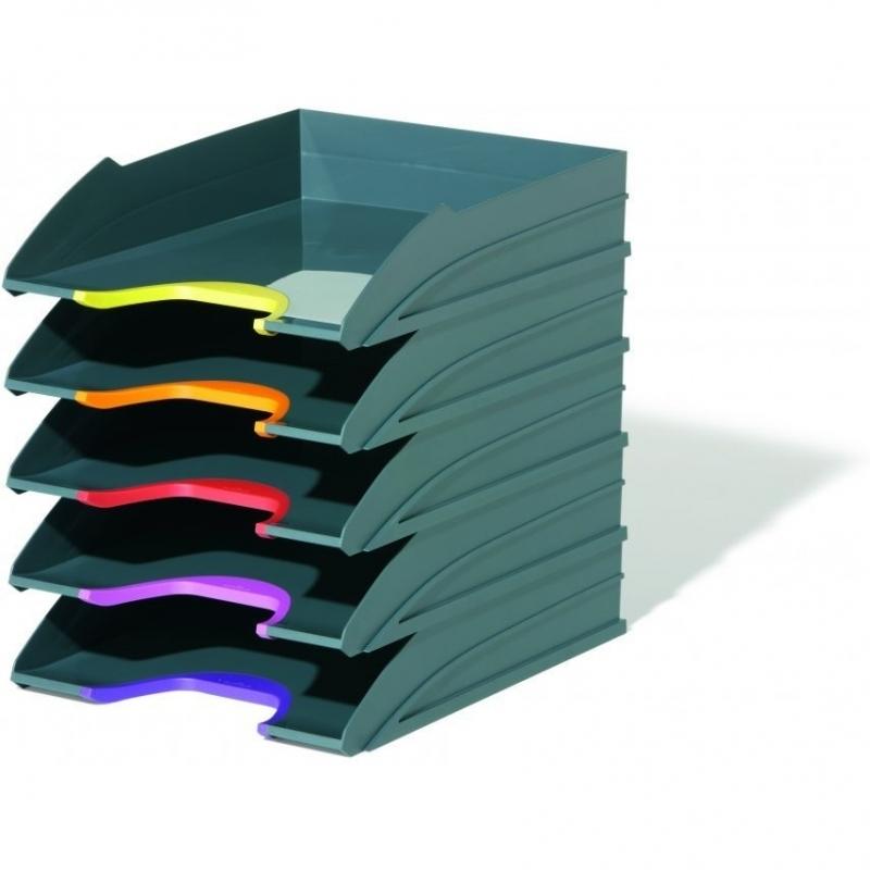Zestaw 5 tacek na dokumenty Varicolor Antracyt Durable