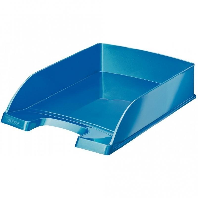 Półka na dokumenty Plus Wow niebieska metalik Leitz