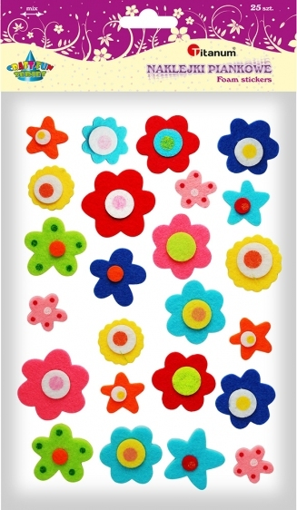 Dekoracje piankowe kreatywne kwiatki 23x43mm 25szt