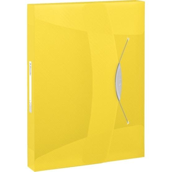 Teczka z gumką Esselte Vivida 40mm żółta