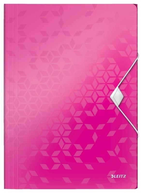 Teczka z gumką Leitz Wow 15mm A4 różowa
