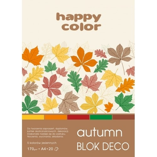 Happy Color blok kolor mix Autumn A4/20 170g Deco