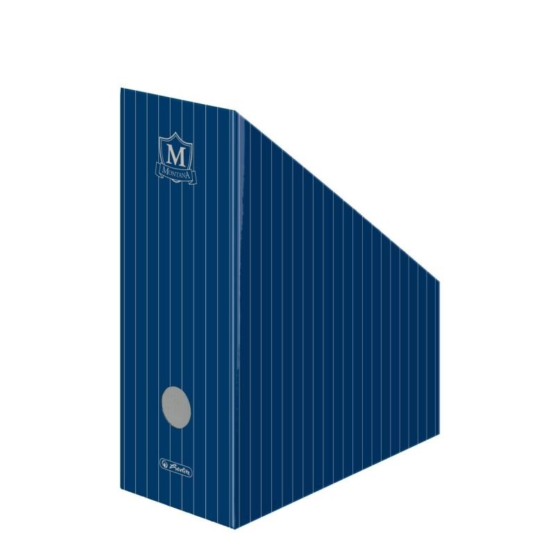 Pojemnik na dokumenty A4 11cm niebieski Montana