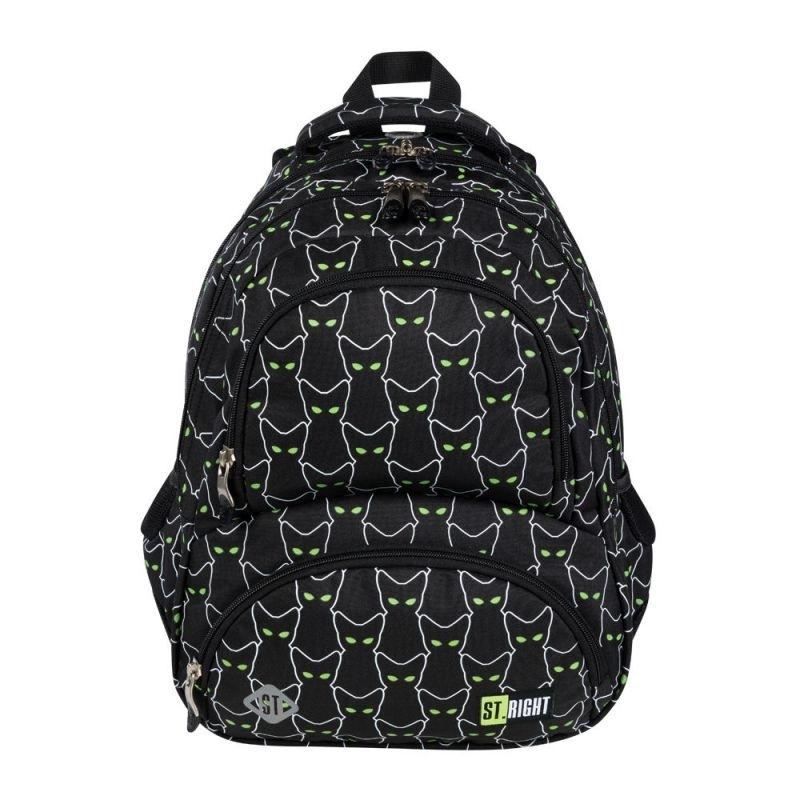 Plecak szkolny Love BP7 Odblaskowy kot ST.Majewski