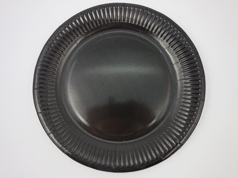Talerz papierowy kolor czarny 23cm  A`10