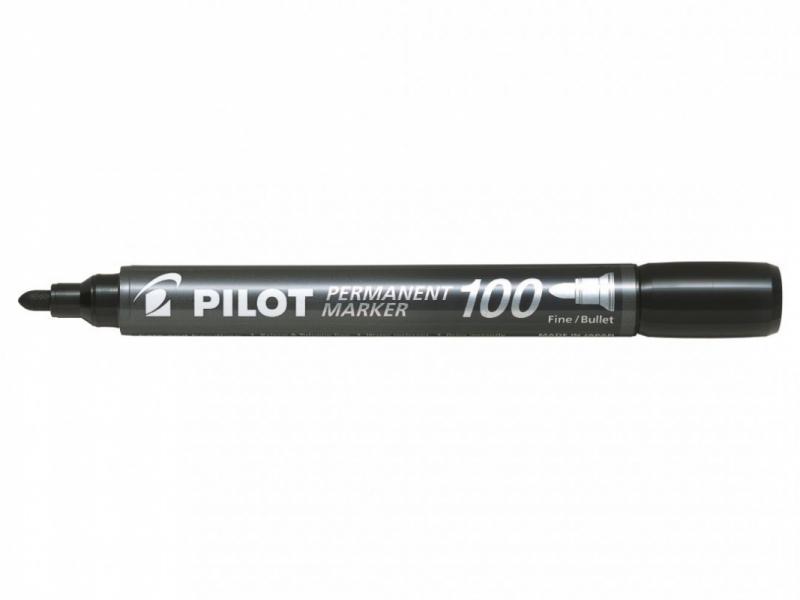Marker permanentny okrągła końcówka SCA-100  czarny Pilot