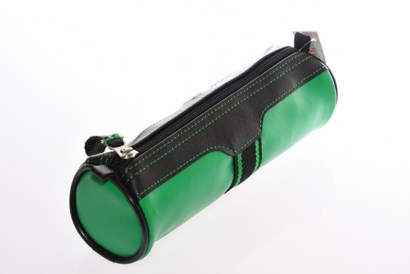 Piórnik jednokomorowy tuba  PCW zielony WAR389