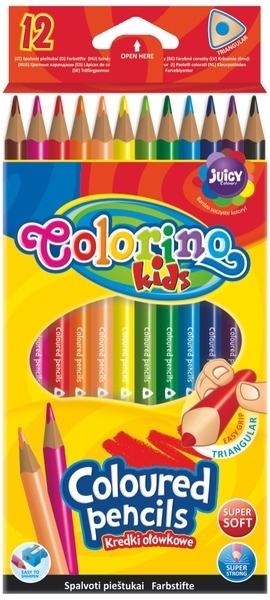 Kredki ołówkowe trójkątne 12k Colorino Kids