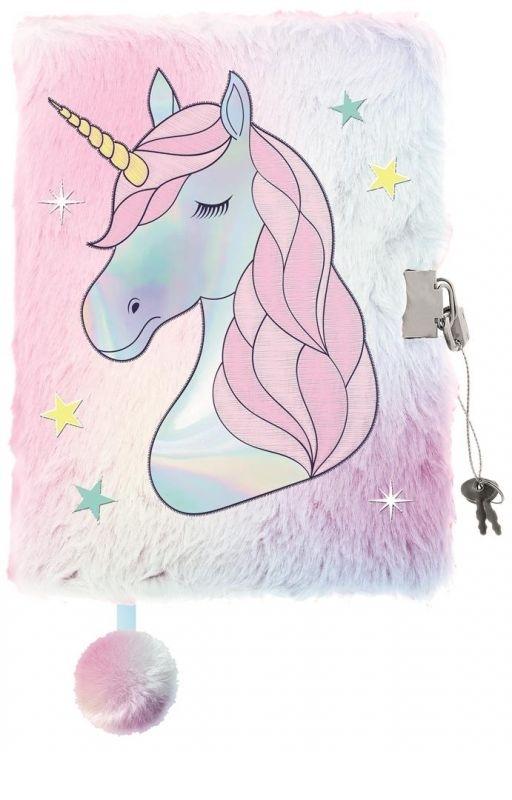 Pamiętnik z kłódką 3D Włochacz A5 96k Unicorn