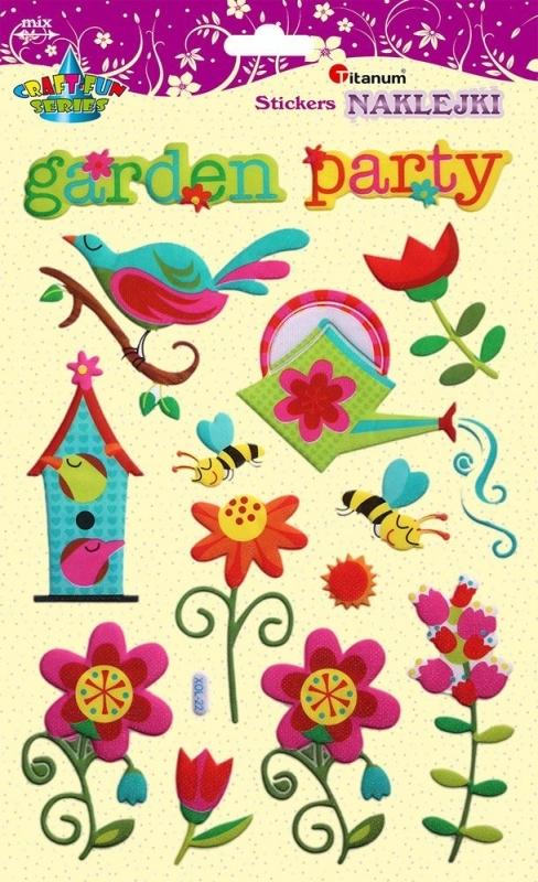Naklejki do dekoracji garden party 2-10 cm A`14