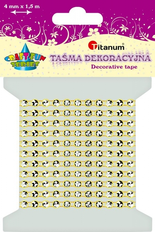 Kryształki na taśmie żółta 0,4cmx1,5m