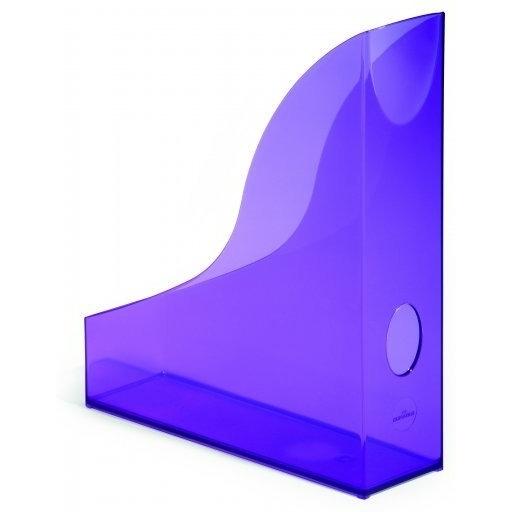 Pojemnik na czasopisma Basic A4 fioletowy - przezroczysty Durable
