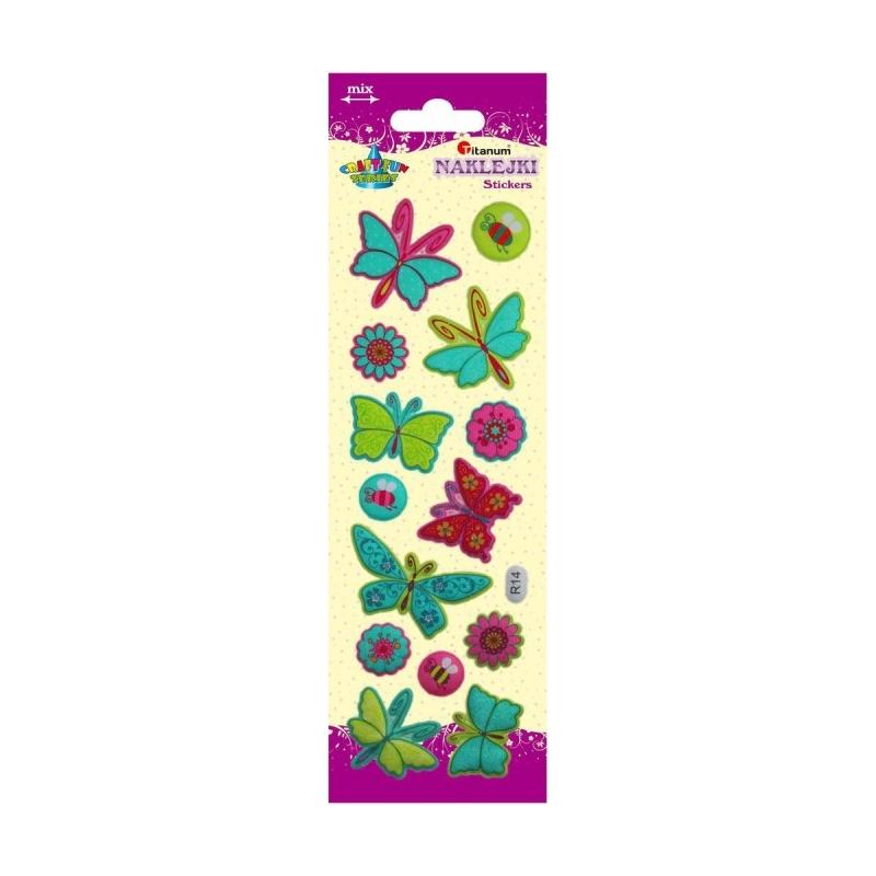 Naklejki do dekoracji motyle, kwiaty