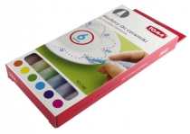 Marker do zdobienia ceramiki 6 kolorów TOMA TO-740