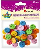 Naklejki piankowe kreatywne buźki 15 mm 40szt