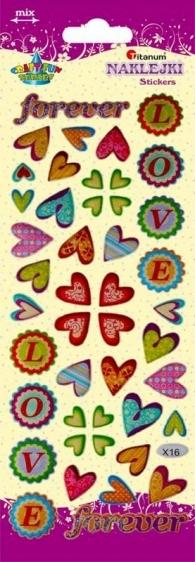 Naklejki dekoracyjne serca Love  Titanum