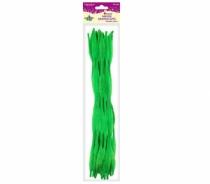 Druciki kreatywne fala zielone 0,6x30cm 15szt