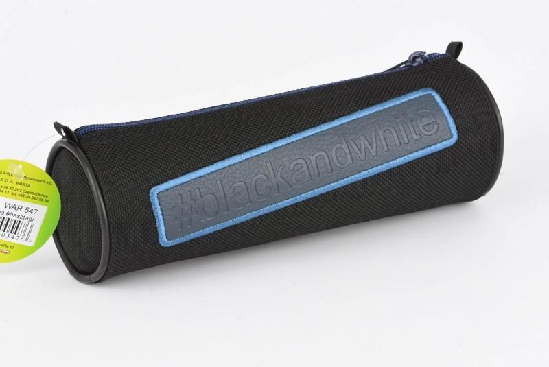 Piórnik tuba z aplikacją niebieska War547