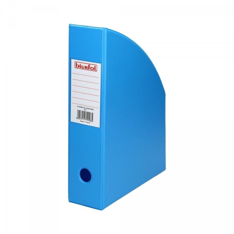 Pojemnik na czasopisma 7cm błękitny Biurfol