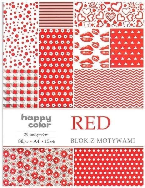 Happy Color blok z motywem Red A4 15 ark