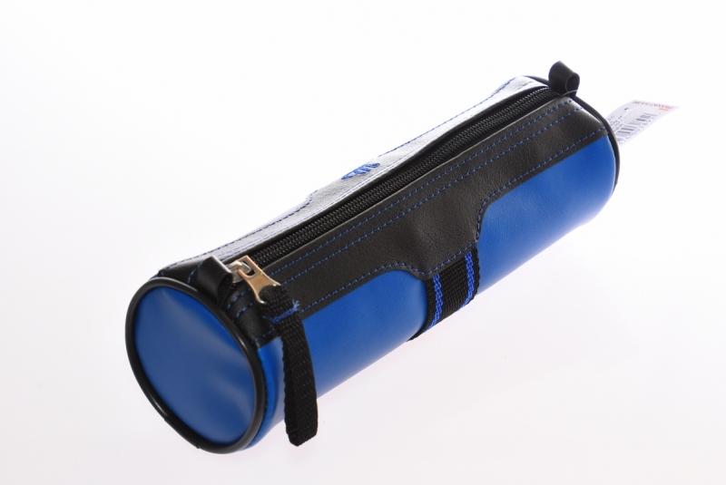 Piórnik jednokomorowy tuba  PCW niebieski WAR389
