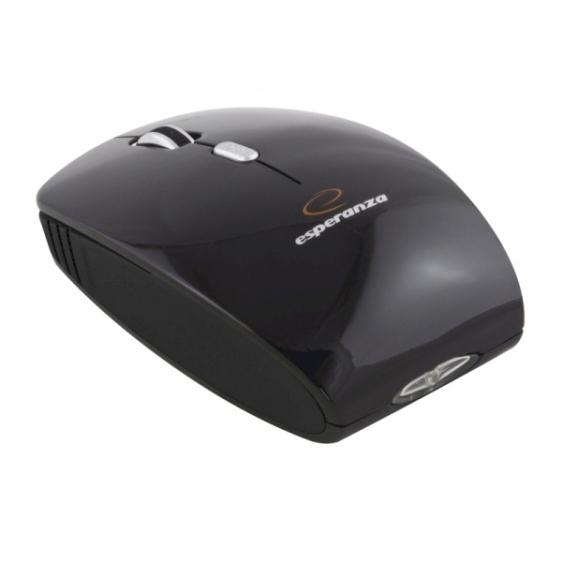 Myszka bezprzewodowa optyczna ESPERANZA CHARGER 4D USB EM121G Czarna