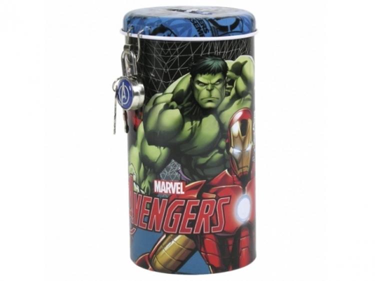 Skarbonka metalowa z kłódką Avengers 99