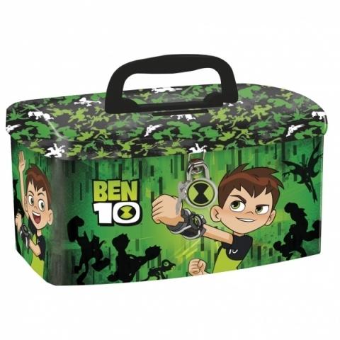 Kuferek skarbonka na kłódkę Ben10