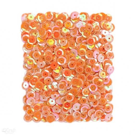 Cekiny opalizujące 9mm 15g pomarańczowe  Dalprint
