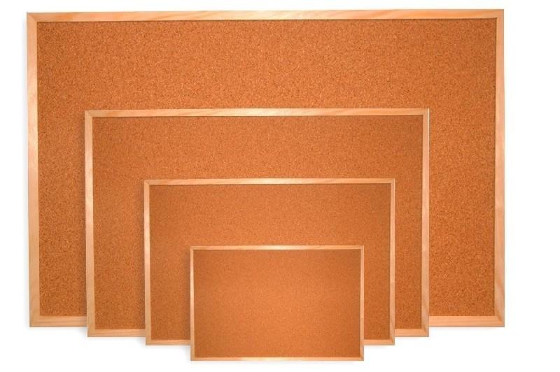 Tablica korkowa w ramie drewnianej 100x80cm