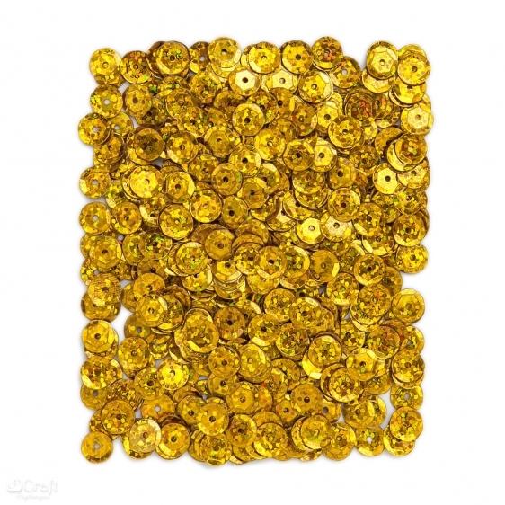 Cekiny holograficzne 9mm 15g złote ciemne