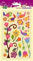Naklejki do dekoracji przestrzenne kwiaty/ptaki 12-145mm 20szt
