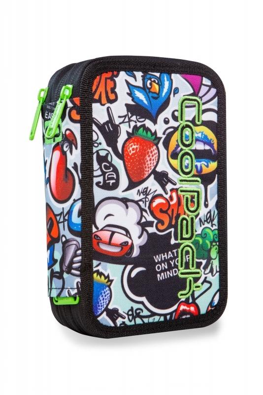 Piórnik potrójny. z wyp.Coolpack Jumper 3 Graffiti