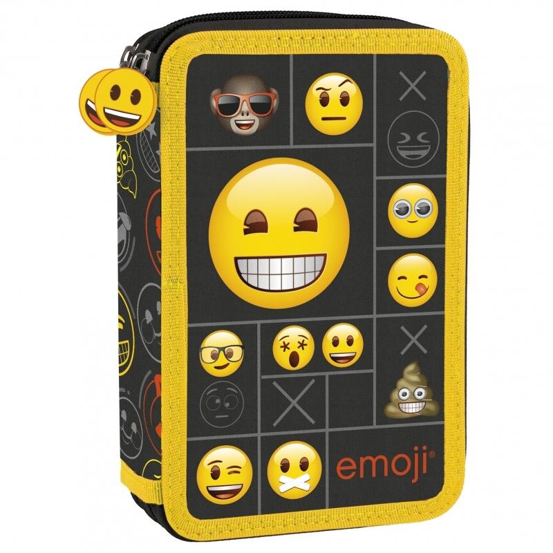 Piórnik dwukomorowy z wyposażeniem Emoji 11