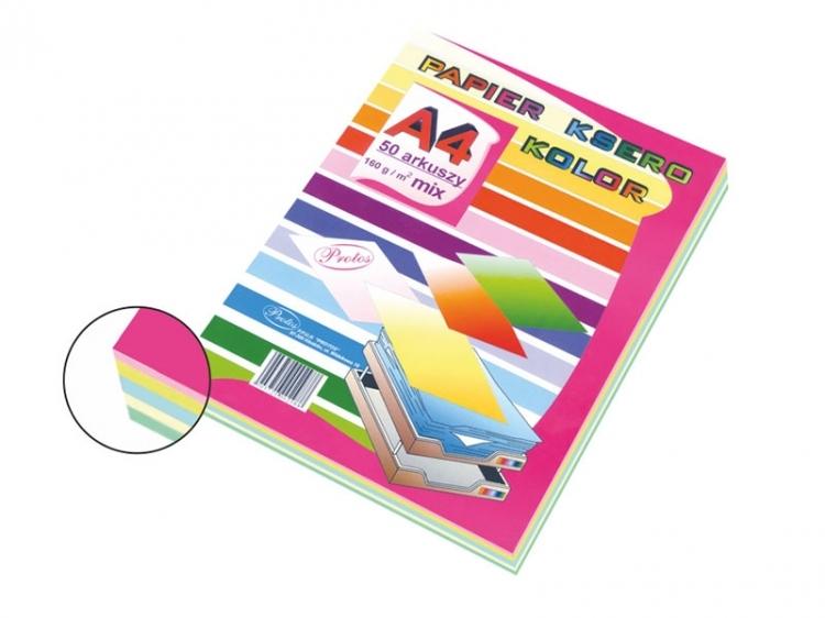 Papier ksero mix pastelowy A4/50 160g