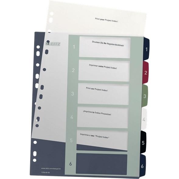 Przekładki plastikowe LEITZ STYLE 1-6