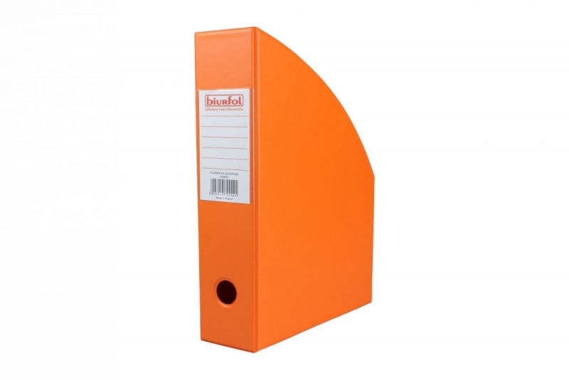 Pojemnik na czasopisma 7cm pomarańczowy Biurfol