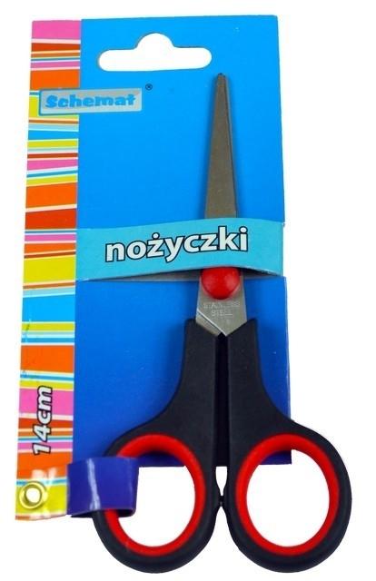Nożyczki szkolne ergonomiczny uchwyt Schemat