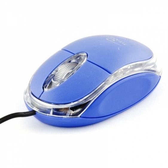 Myszka przewodowa optyczna Titanum RAPTOR 3D USB TM102B Granatowa