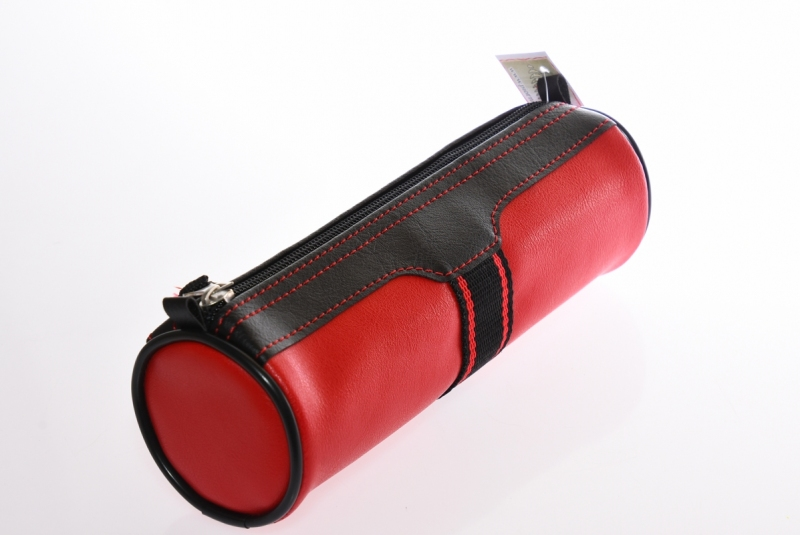 Piórnik jednokomorowy tuba  PCW czerwony WAR389