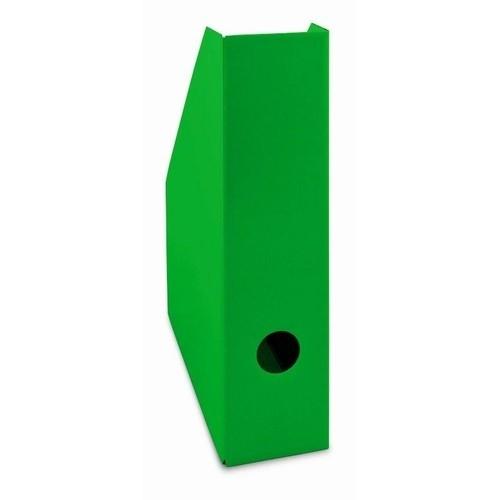 Pojemnik na czasopisma A4 7cm zielony lakierowany Bantex