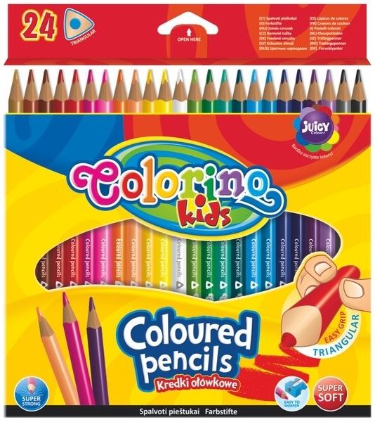 Kredki ołówkowe trójkątne 24k Colorino Kids