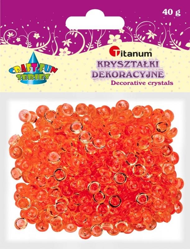 Kryształki ozdobne plastikowe czerwone 40g